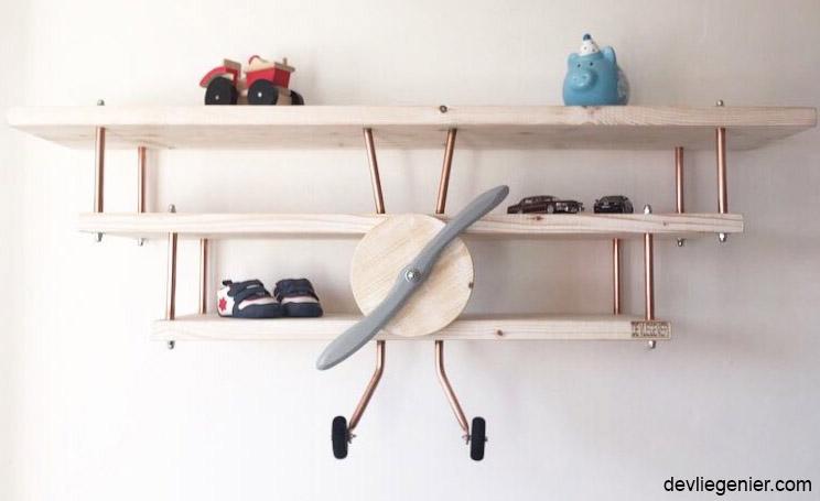 Vliegtuigwandplank de vliegenier - Planklengte van het kind ...